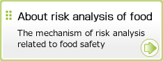 About risk analysis of food